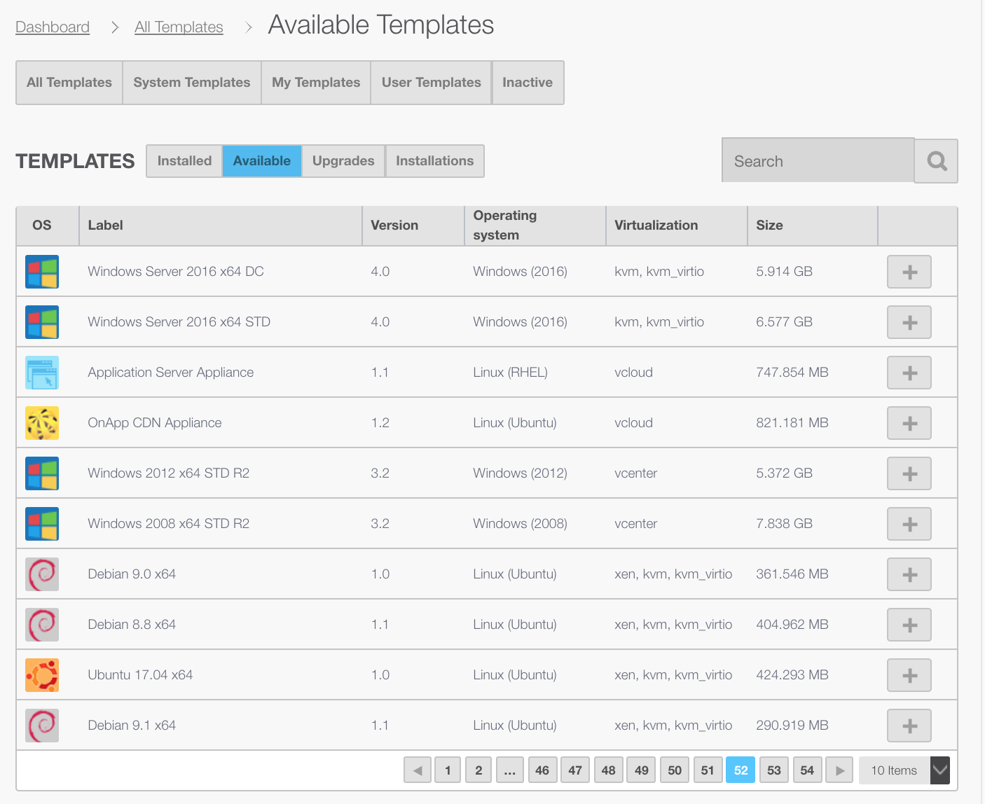 Use OnApp's cloud template library to save time and money!