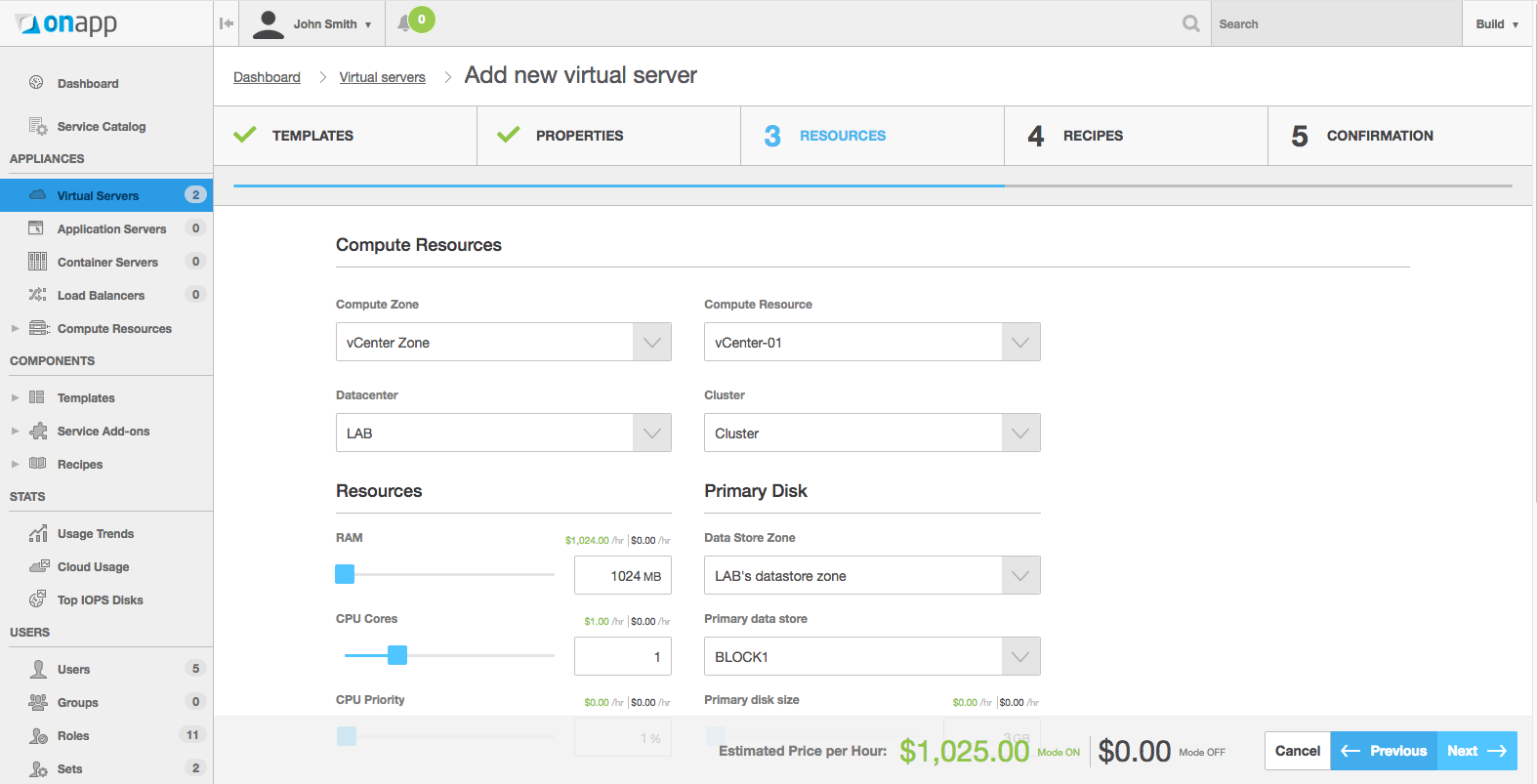 To use OnApp for vCenter, you will need to deploy a server that the OnApp software will be installed on