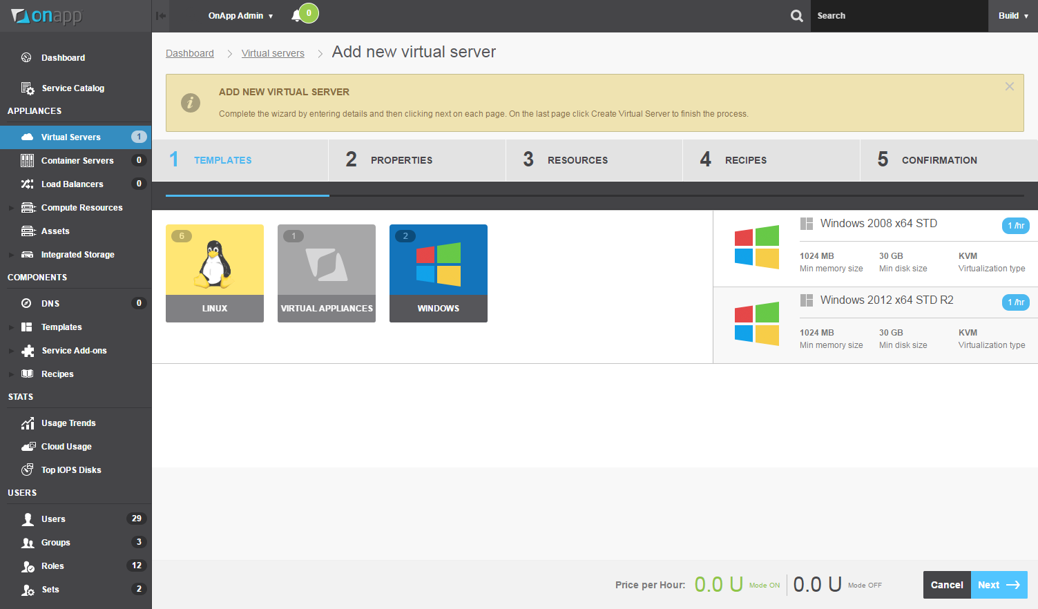 OnApp includes a fully customizable, HTML5 control panel that streamlines workload management